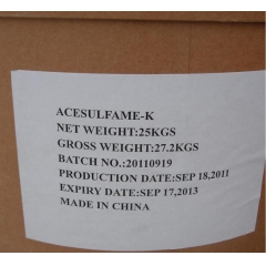 Buy Acesulfame K(AK sugar)99.9% from china suppliers at best price suppliers